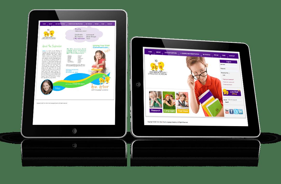 responsive UI education platform